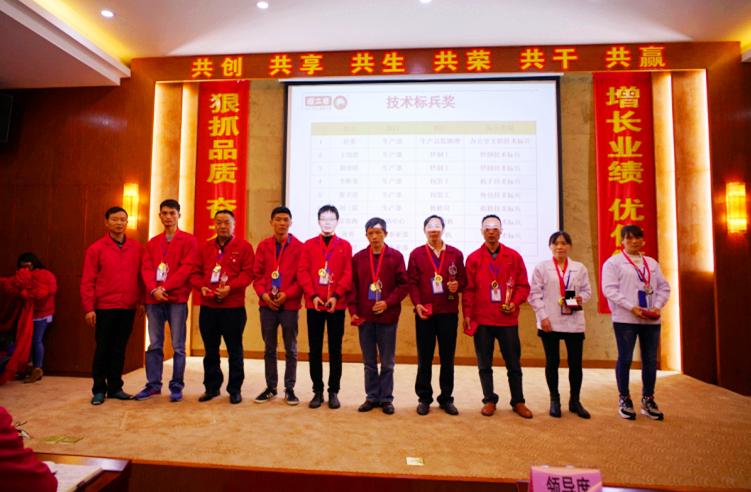 2016年年度技术标兵人员